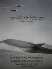 6/1991 PUB MCDONNELL DOUGLAS F/A-18 HORNET F-15 EAGLE DESERT STORM DUNE SABLE AD
