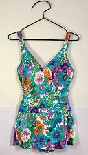 VINTAGE PERFECTION FIT ROXANNE BATHING SUIT SWIMSUIT SKIRT UNION MADE USA 16/38B