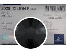 1440 Swarovski Xilion Rose Flatback HotFix 6ss Jet Black 2028 HF ss6 Tiny 2mm