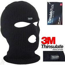 Balaclava Black Mask Thinsulate Flex Warm Winter Style Army Ski Hat Neck Warmer