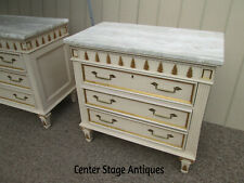 58543 Pair Decorator Marble Top Dresser Bachelor Chest s