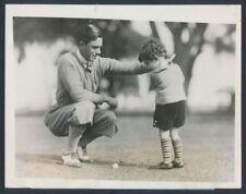 "1928 Johnny Farrell, ""Teaching the Next Generation of Golfers"" Vintage Photo"