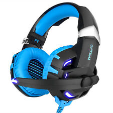 ONIKUMA K2 Stereo Game Gaming Headset MIC LED Headphones for PC Laptop PS4 Mac