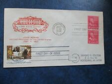 John Adams USPS Stamps and Cover  #850 with #2052