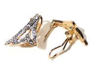 Bijou alliage doré boucles d'oreilles strass  earrings