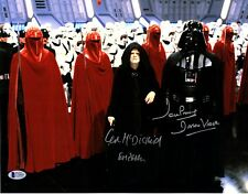 DAVE PROWSE & IAN McDIARMID Signed STAR WARS 11x14 Photo BECKETT BAS #C70495