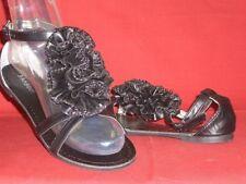 Elegante Soirée de Gala Sandales pour femmes Application noir bamboo gr. 37,5