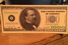 $1000 Dollar Bill Fake, Novelty, Funny, Fun, Money, Joke, Happy