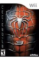 Spider-Man 3 Nintendo Wii Kids Game Marvel Avengers Collectible U