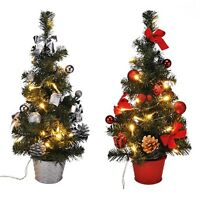 LED Weihnachtsbaum künstlicher Tannenbaum Christbaum Tanne Deko beleuchtet 45 cm