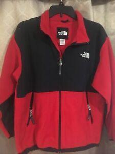 The North Face Boys Size XL 18/20 Polartec Fleece Jacket Black /Red Coat
