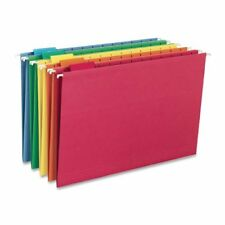 Smead Hanging File Folder with Tab 1 5 Cut Adjustable Legal Size Assorted