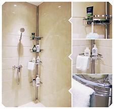Lifewit Tension Shower Caddy 4 Tier Adjustable Bathroom Shower Constant Tension
