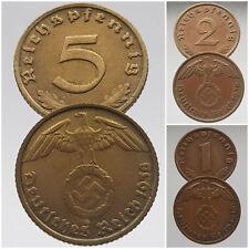 1  2  5 pfennig 1936 - 1945 Allemagne 3e Reich ReichsPfennig