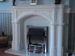 F09 Cambridge Fire Surround in Plaster - BIRMINGHAM COLLECTION ONLY