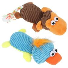 2PCS/Set Pet Dog Squeak Chew Toy Soft Plush Duck Monkey Sound To