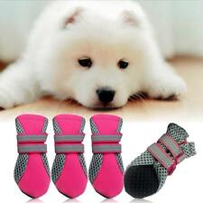 4pcs Pet Dog Shoes Waterproof Rubber Anti-slip Mesh Small Puppy Boots Booties