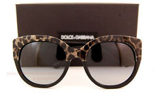 Brand New Dolce & Gabbana Sunglasses DG 4259 1995/8G Leopard Black/Gradient Grey