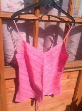 STUNNING PEACH COLOUR BEADED LINEN TOP, PER UNA, SIZE sml. HIGH QUALITY ITEM.