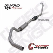 "Diamond Eye 4"" Turbo Back Single Exhaust System 03-07 Ford F250 F350 6.0L K4334A"