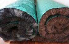 Traditional green-back vet bed with paws/brown blend. Quality fleece 2-5m roll💕