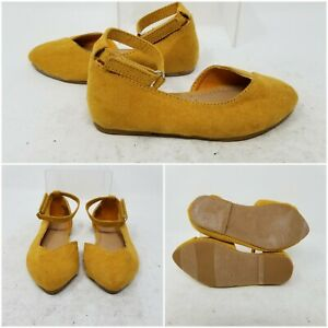 Old Navy Yellow Flats Ankle Pointed Toe Low Top Shoes Baby's Size 6