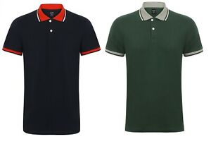 New Mens Polo Shirts Pique Polo Shirt Plain Cotton Tops Regular S - 3XL