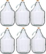 6 STÜCK Gärballon Flasche Glasballon Weinballon Glasflasche 5L