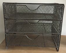 Modern but vintage looking Metal wire storage with three drawers