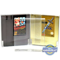 NES Game Cart Protectors x 10 Cartridge Box STRONGEST 0.5mm PLASTIC DISPLAY CASE