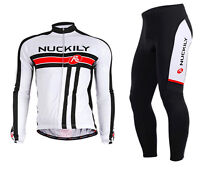 New Mens Road Bike Team Clothing Long Sleeve Jersey Trousers Kits Riding Outfits