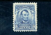 USAstamps Unused FVF US Series 1902 Lincoln Scott 304 OG MNH