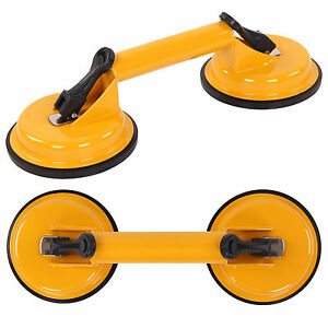 2 x New Heavy Duty Double Suction Cup Glass Lifter Metal Window Mirror Puller