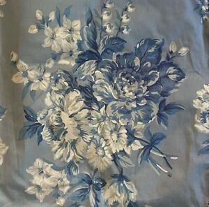 Vtg Ralph Lauren HTF Floral Twin Sz Bed Skirt Blue Gray Rare Grace Ruffle