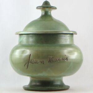 JEAN MARAIS Céramique VALLAURIS Boite Pot Vert 50/60 cocteau/picasso/capron...