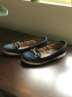 Anne Klein Womens Size 7.5 'Woolsey' Black Wedge Heels w/ Patent Toe Cap EUC