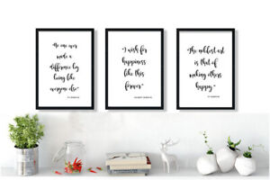 Mono Black & White GREATEST SHOWMAN QUOTE PRINTS A4 A3 Inspirational This is me