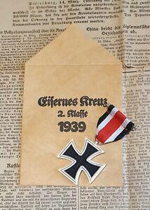 Eisernes Kreuz 2. Kl. 1939 mit Verleihungstüte