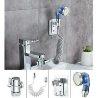 Wash Face Basin Water Tap External Faucet Shower Flexible Nozzle Sprinkler Kit