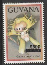 Guyana 6581 - 1991 ? Orchids opt'd JOHN F KENNEDY $500 on $17.80  unmounted mint