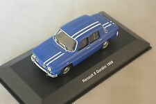 SOLIDO 400100 - Renault 8 gordini 1300 1969 belu bandes blanches 1/43