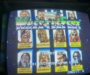 1991 Technos WWF Wrestlefest Arcade Jamma PCB Partially Tested