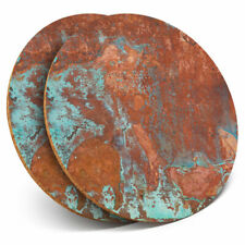 2 x Coasters - Cool Rusty Aged Copper Fun Home Gift #3024
