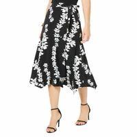 ALFANI NEW Women's Petite Floral Faux-wrap A-Line Skirt TEDO