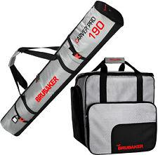 BRUBAKER Ski Bag Combo Tec Pro - Boot Bag and Ski Bag - Silver/Red