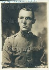 1918 US Army Captain Alfred P Upshur WWI Press Photo