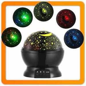 LED Baby Nachtlicht Deluxe Einschlafhilfe für Kinder Sternenprojektor Nachtlampe