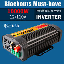 5000W 10000W Peak Car Solar Power Inverter DC 12V to AC 110V Sine Wave Converter