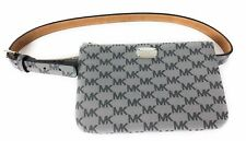 Michael Kors Belt Bag Waist Wallet MK Logo Gray Medium NWT