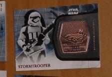 Topps STAR WARS Force Awakens Serie 2 Card MEDALLION 8 stormtrooper Carte rare
